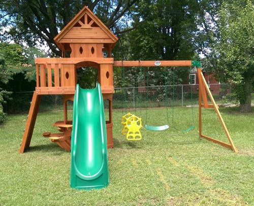 Construction of Wooden Playset